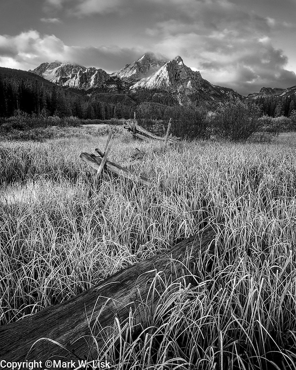 The classic view of McGown peak in the Sawtooth National Forest, Idaho.