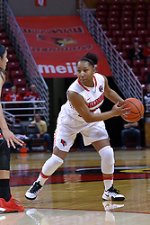 01 January 2017: Viria Livingston during an NCAA Missouri Valley Conference Women's Basketball game between Illinois State University Redbirds the Braves of Bradley at Redbird Arena in Normal Illinois.