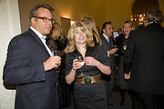 BOB CROSIER; RACHEL JOHNSON, Vanity Fair, Baroness Helena Kennedy QC and Henry Porter launch ' The Convention on Modern Liberty'. The Foreign Press Association. Carlton House Terrace. London. 15 January 2009 *** Local Caption *** -DO NOT ARCHIVE-© Copyright Photograph by Dafydd Jones. 248 Clapham Rd. London SW9 0PZ. Tel 0207 820 0771. www.dafjones.com.<br /> BOB CROSIER; RACHEL JOHNSON, Vanity Fair, Baroness Helena Kennedy QC and Henry Porter launch ' The Convention on Modern Liberty'. The Foreign Press Association. Carlton House Terrace. London. 15 January 2009