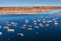 Houseboats at Bullfrog Marina on Lake Powell
