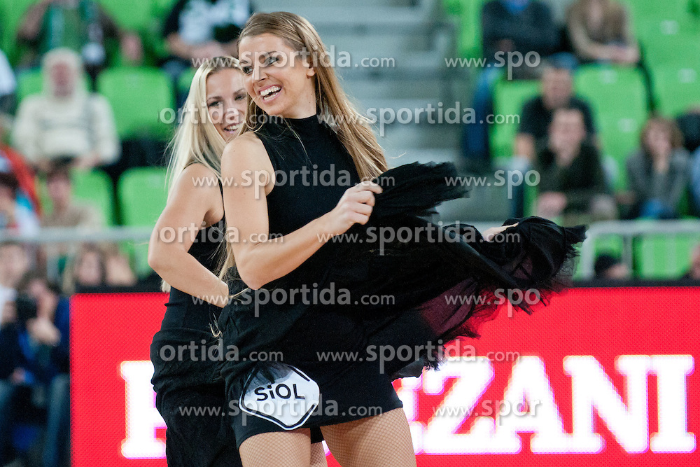 Cheerleaders Dragon Ladies during basketball match between KK Union Olimpija and Galatasaray Medical Park (TUR) of 4th Round in Group D of Regular season of Euroleague 2011/2012 on November 9, 2011, in Arena Stozice, Ljubljana, Slovenia. (Photo by Matic Klansek Velej / Sportida)