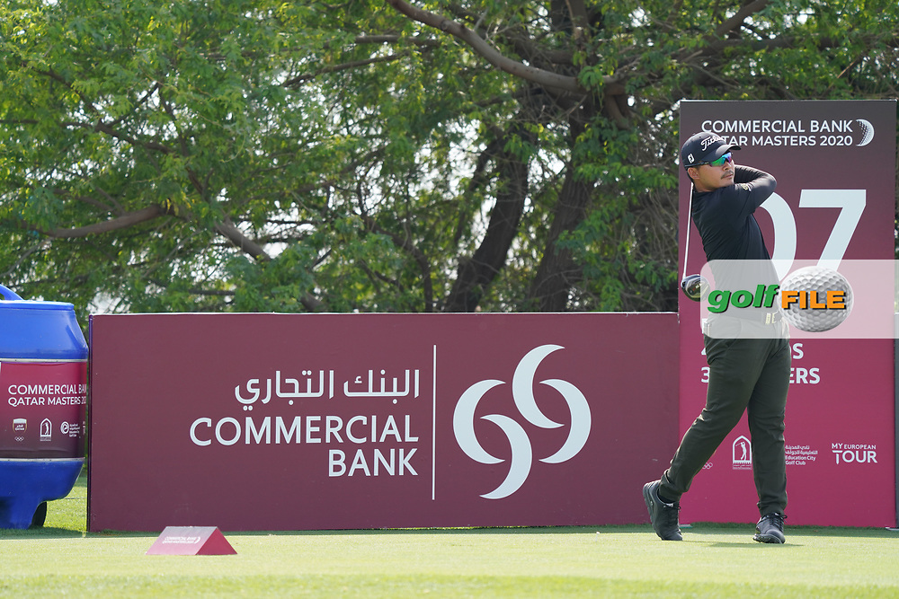 Masahiro Kawamura (JPN) during the final round of the Commercial Bank Qatar Masters 2020, Education City Golf Club , Doha, Qatar. 08/03/2020<br /> Picture: Golffile   Phil Inglis<br /> <br /> <br /> All photo usage must carry mandatory copyright credit (© Golffile   Phil Inglis)