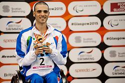 BONI Vincenzo ITA at 2015 IPC Swimming World Championships -  Men's 50m Backstroke S3