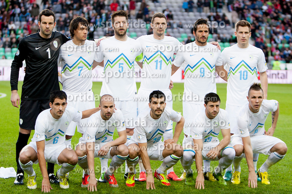 Team Slovenia during football match between National teams of Slovenia and Iceland in Group E of FIFA World Cup 2014 Qualification on October 12, 2012 in SRC Stozice, Ljubljana, Slovenia. (Photo By Urban Urbanc / Sportida)