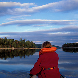 Pemadumcook Lake, ME. Canoeing. Northern Forest. Paddling the Northwest end of the lake.