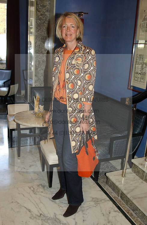 MARIE CLAIRE AGNEW  at a fashion show with designs by Irish designer Louise Kennedy held in the Blue Bar, Berkeley Hotel, London on 12th May 2005.<br />