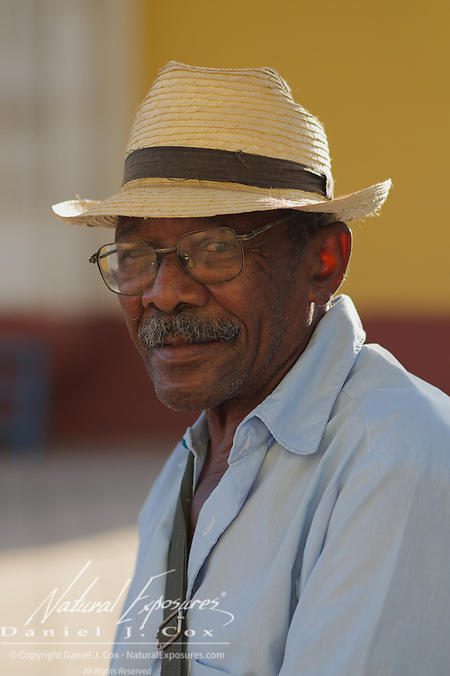 Portrait of Juan, a local Cuban man in the city of Trinidad, Cuba.