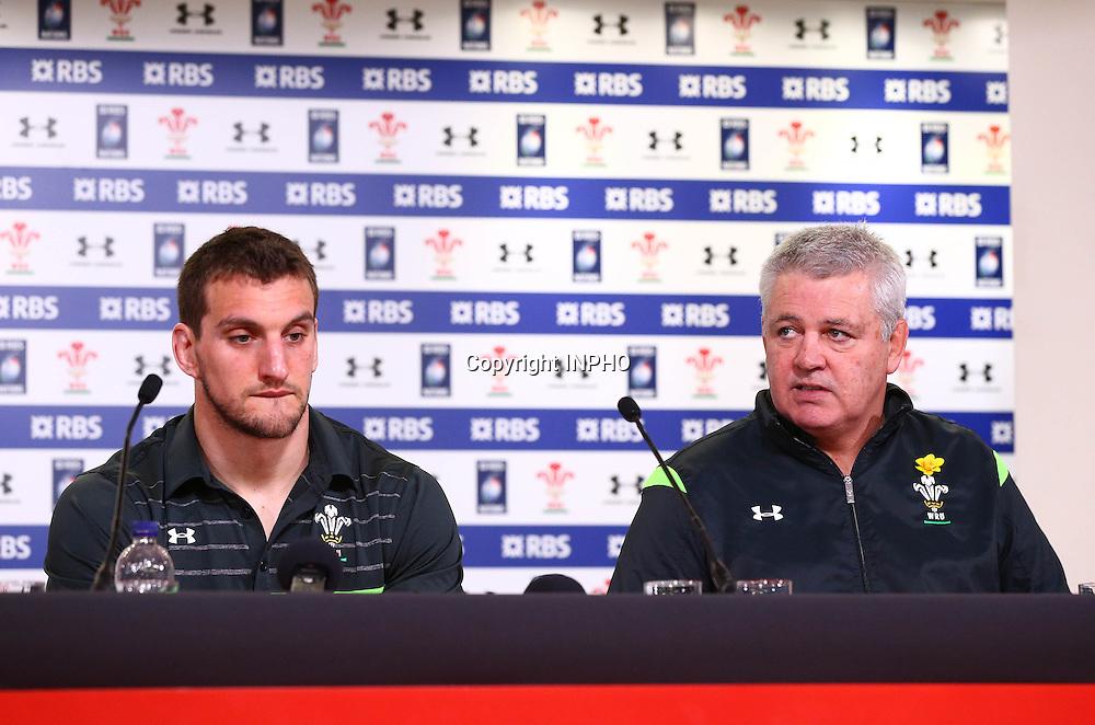 RBS 6 Nations Championship, Millennium Stadium, Wales 14/3/2015<br /> Wales<br /> Head coach Warren Gatland and Sam Warburton<br /> Mandatory Credit &copy;INPHO/Cathal Noonan