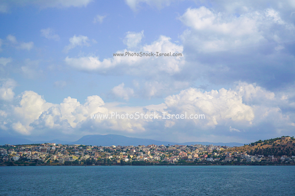 Chalcis or Chalkida is the chief town of the island of Euboea in Greece, situated on the Euripus Strait at its narrowest point.