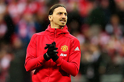 Zlatan Ibrahimovic of Manchester United applauds the fans - Mandatory by-line: Matt McNulty/JMP - 26/02/2017 - FOOTBALL - Wembley Stadium - London, England - Manchester United v Southampton - EFL Cup Final