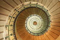 spiral staircase in the Eckmuhl lighthouse, Penmarc'h, Brittany....Photograph by Owen Franken