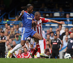 28.08.2010, Stamford Bridge, London, ENG, PL, FC Chelsea vs Stoke City, im Bild Action involving Didier Drogba of Chelsea  . EXPA Pictures © 2010, PhotoCredit: EXPA/ IPS/ Marcello Pozzetti +++++ ATTENTION - OUT OF ENGLAND/UK +++++ / SPORTIDA PHOTO AGENCY