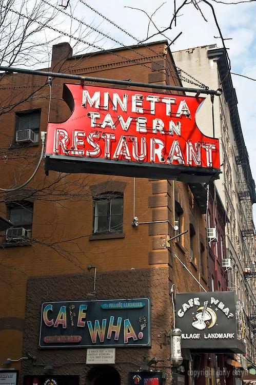 Minetta Tavern and Cafe Wha