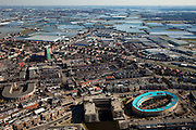 Nederland, Zuid-Holland, Westland, 20-03-2009; Monster gezien vanaf de kust naar Honselersdijk en Naaldwijk. Air view on the village of Monster, in the back the glasshouses of the horticulture..Swart collectie, luchtfoto (toeslag); Swart Collection, aerial photo (additional fee required); .foto Siebe Swart / photo Siebe Swart
