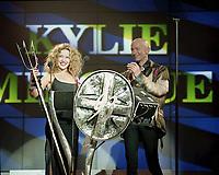 Kylie Minogue, The BRIT Awards 1993 <br /> Tuesday 16 Feb 1993.<br /> Alexandra Palace, London, England<br /> Photo: John Marshall - JM Enternational