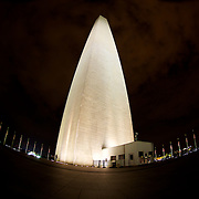 The iconic Washington Monument at night - smaller crowds and even larger then life presence
