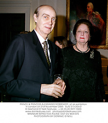 PRINCE & PRINCESS ALEXANDER ROMANOFF, at an exhibition in London on 21st November 2000.		OJG 213 2OLO