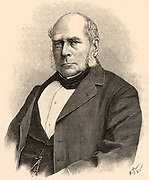 Henry Bessemer (1813-1893) English engineer, inventor and industrialist.   Among his inventions were the Bessemer steel process and the  Bessemer converter.  From 'La Nature' (Paris, 1898). Engraving.