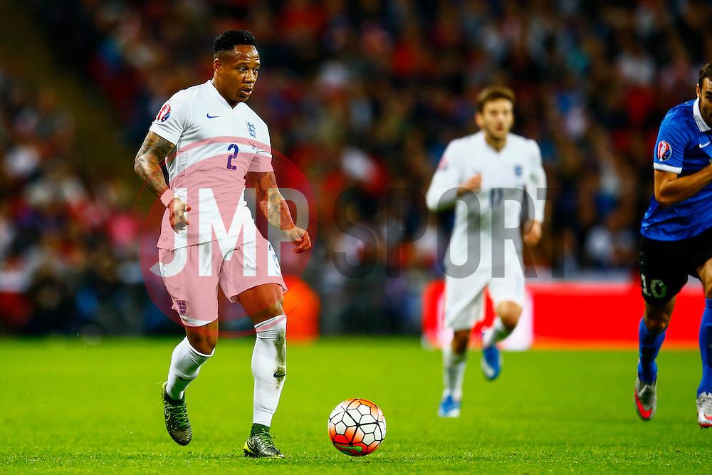 Nathaniel Clyne of England in action - Mandatory byline: Jason Brown/JMP - 07966 386802 - 09/10/2015- FOOTBALL - Wembley Stadium - London, England - England v Estonia - Euro 2016 Qualifying - Group E
