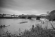 London. United Kingdom, 2018 Women's Head of the River Race.  location Barnes Bridge, Championship Course, Putney to Mortlake. River Thames, <br />