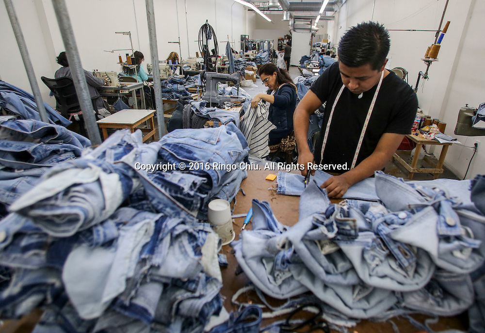 Workers at denim company Re/Done.<br /> (Photo by Ringo Chiu/PHOTOFORMULA.com)<br /> <br /> Usage Notes: This content is intended for editorial use only. For other uses, additional clearances may be required.