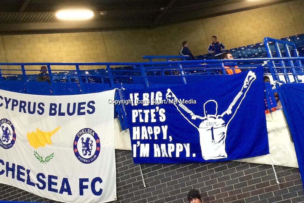 Banderole Petr Cech - 11.03.2015 - Chelsea / Paris Saint Germain - 1/8Finale Champions League<br />Photo : Johnny Fidelin / Icon Sport