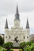 19 SEPTEMBER 2006 - NEW ORLEANS, LOUISIANA: Jackson Square in New Orleans. Photo by Jack Kurtz / ZUMA Press