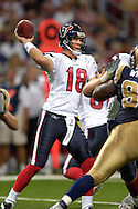 Houston quarterback Sage Rosenfels (18) in action against St. Louis at the Edward Jones Dome in St. Louis, Missouri, August 19, 2006.  The Texans beat the Rams 27-20.