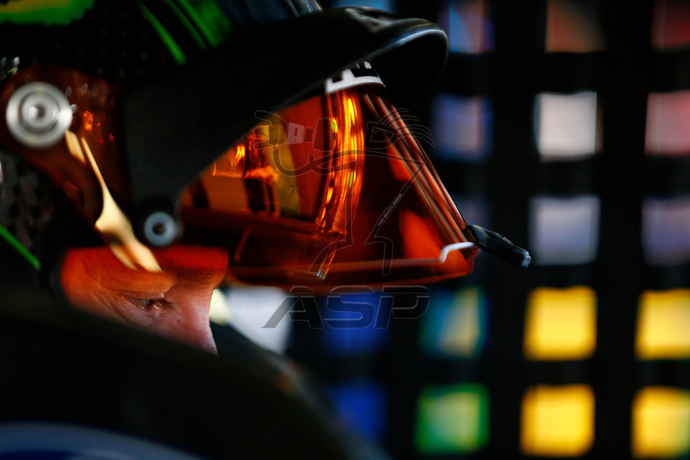 September 23, 2017 - Loudon, New Hampshire, USA: Kurt Busch (41) hangs out in the garage during practice for the ISM Connect 300 at New Hampshire Motor Speedway in Loudon, New Hampshire.