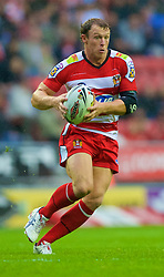 Wigan, England - Thursday, July 12, 2007: Wigan Warriors' Mickey Higham in action against Leeds Rhinos during the Super League match at the JJB Stadium. (Photo by David Rawcliffe/Propaganda)