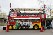 London Bus and Fan Club before the International Friendly match between Germany and England at Signal Iduna Park, Dortmund, Germany on 22 March 2017. Photo by Phil Duncan.