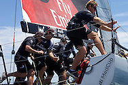SPAIN, Alicante, 17th May 2009, AUDI MedCup, City of Alicante Trophy, Race 8, Emirates Team New Zealand mid tack.