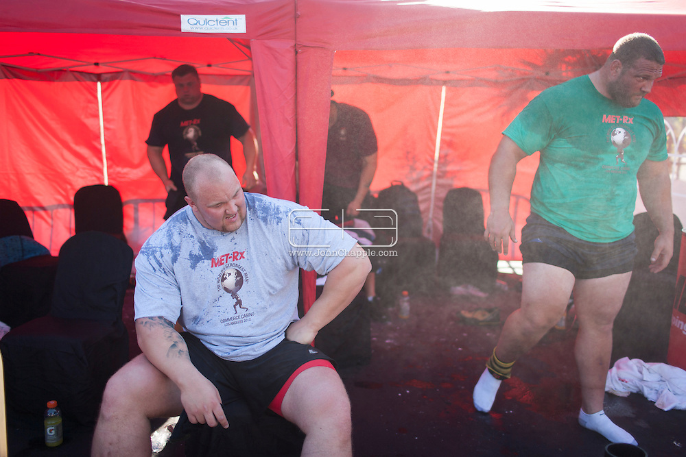 September 30, 2012. Commerce, California.  The 2012 MET-Rx World's Strongest Man competition, saw 30 international competitors battle it out in front of the Commerce Casino, to win the ultimate strongman title...Photo John Chapple / © IMG Media Ltd..