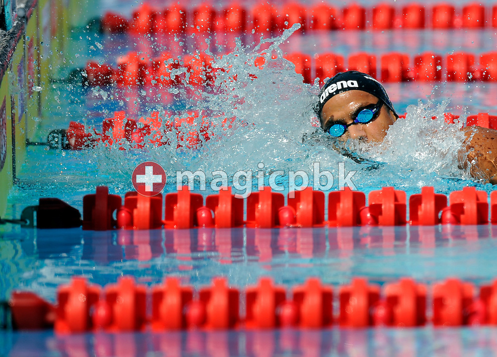 Oussama Mellouli of Tunis competes in the men's 800m freestyle heats at the 13th FINA World Championships at the Foro Italico complex in Rome, Italy, Tuesday, July 28, 2009. (Photo by Patrick B. Kraemer / MAGICPBK)