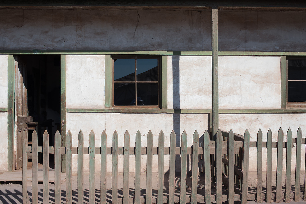 Abandoned building in Humberstone, an old mining town that is now a museum.
