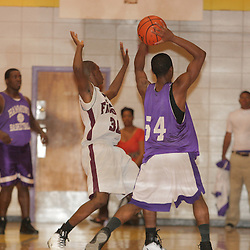 2008 November 13: during a 39-25 win by the Hammond Tornados over the St. Thomas Aquinas Falcons during the Independence prep basketball jamboree at the Independence High School Gym in Independence, LA.