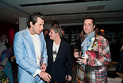 MARK RONSON; NICK RHODES; RUFUS WAINWRIGHT, Prima Donna opening night. Sadler's Wells Theatre, Rosebery Avenue, London EC1, Premiere of Rufus Wainwright's opera. 13 April 2010