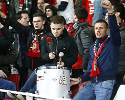 March 14, 2019 - London, England, United Kingdom - Rennes Fans.during Europa League Round of 16 2nd Leg  between Arsenal and Rennes at Emirates stadium , London, England on 14 Mar 2019. (Credit Image: © Action Foto Sport/NurPhoto via ZUMA Press)