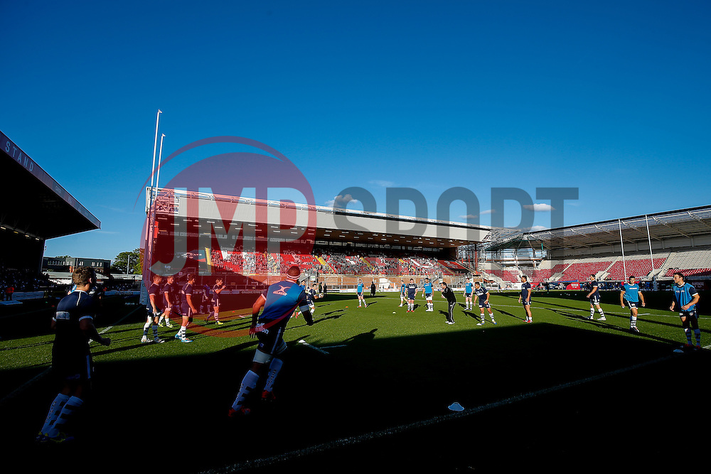 - Photo mandatory by-line: Rogan Thomson/JMP - 07966 386802 - 20/05/2015 - SPORT - Rugby Union - Bristol, England - Ashton Gate Stadium - Bristol Rugby v Worcester Warriors - Greene King IPA Championship Play-Off Final 1st Leg.