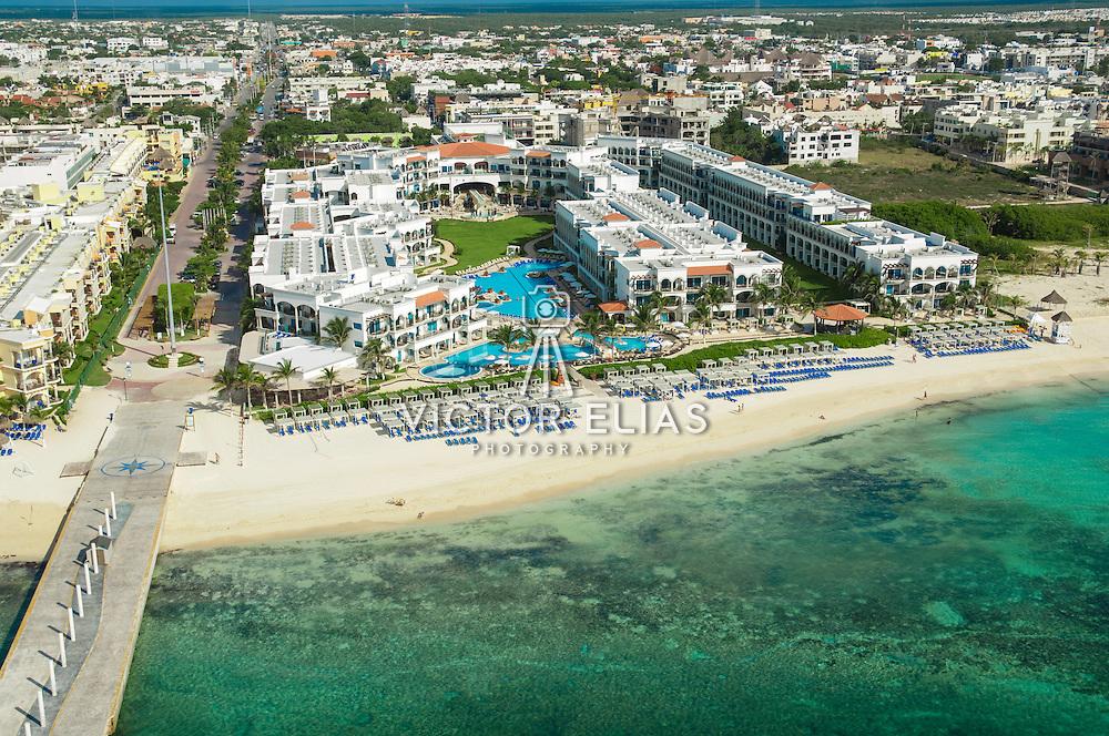 Aerial view of hotel Royal. Playa del Carmen, Quintana Roo. Mexico.