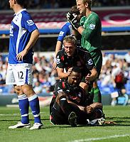 Birmingham City/Stoke City Premiership 22.08.09 <br /> Photo: Tim Parker Fotosports International<br /> Ricardo Fuller Stoke City missed chance