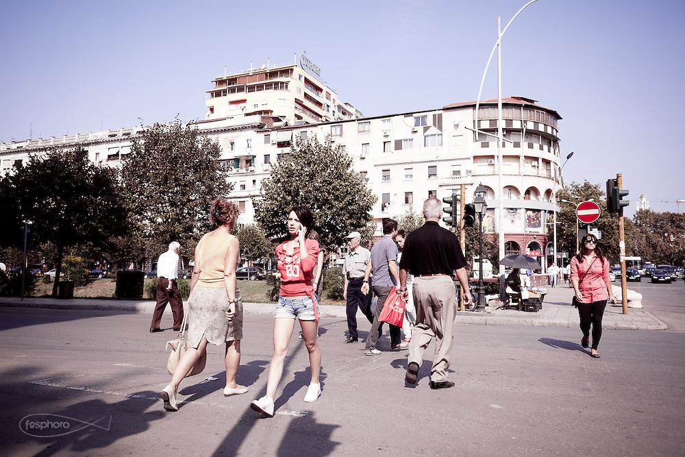 Tirana - Towards Rinia Parck.