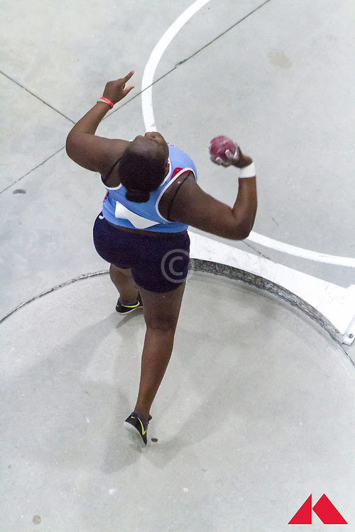 ECAC Indoor Champs, womens shot put, Delaware State