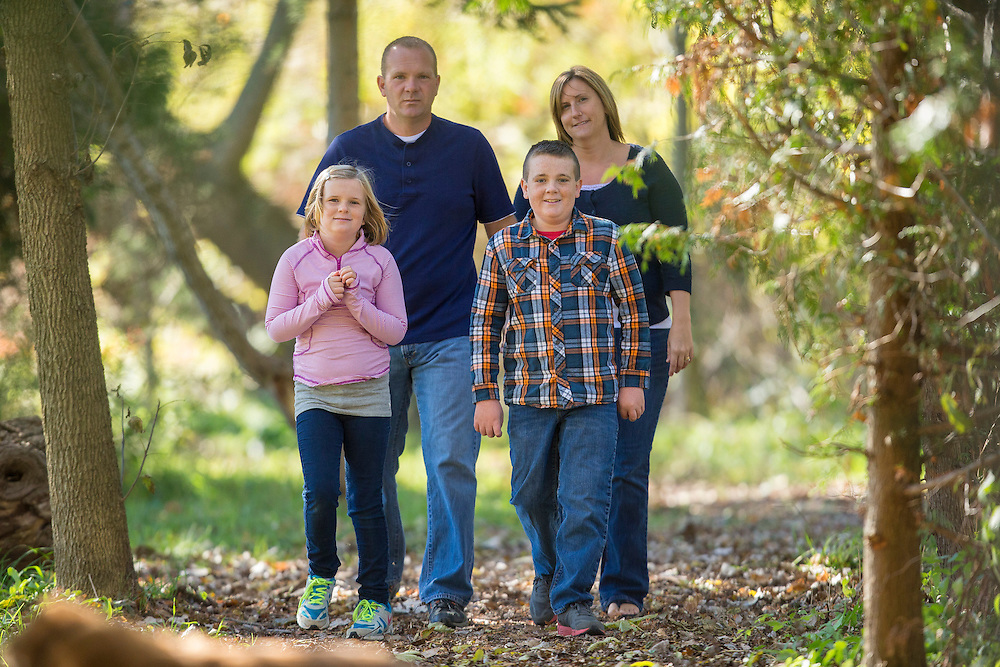 The Smith Family poses for photos in the Ferndale Community Park October 12, 2014