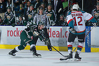 KELOWNA, CANADA - DECEMBER 30:  Nick Walters #3 of the Everett Silvertips takes a shot from the point at the Kelowna Rockets on December 30, 2012 at Prospera Place in Kelowna, British Columbia, Canada (Photo by Marissa Baecker/Shoot the Breeze) *** Local Caption ***