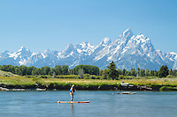 SUP on the Snake River in Grand Teton National Park, WY.