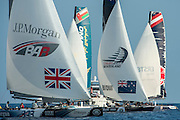 JP Morgan BAR and Emirates Team New Zealand,  Day three of the Extreme Sailing Series Regatta at Nice. 4/10/2014