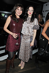 Left to right, HELEN McCRORY and ANDREA RISEBOROUGH at the InStyle Best of British Talent Event in association with Lancôme and Avenue 32 held at The Rooftop Restaurant, Shoreditch House, Ebor Street, London E1 on 30th January 2013.