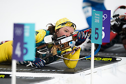 February 12, 2018 - Pyeongchang, SOUTH KOREA - 180212  Linn Persson of Sweden competes in the Women's Biathlon 10km Pursuit during day three of the 2018 Winter Olympics on February 12, 2018 in Pyeongchang..Photo: Jon Olav Nesvold / BILDBYRN / kod JE / 160156 (Credit Image: © Jon Olav Nesvold/Bildbyran via ZUMA Press)