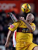 Photo: Alan Crowhurst.<br />Southampton v Burnley. Coca Cola Championship. 13/01/2007. Burnleys John McGreal clears with a header.